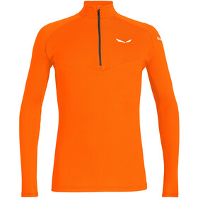 SALEWA *Sennes Dry Half Zip LS Tee Men, fluo orange